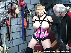Horny bondage master makes this blondes new village xxx vedios experience the best