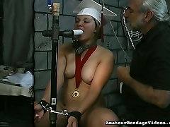 Unthinkably horny coed Angelina is really into BDSM