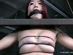 Sextractive Asian girl is restrained and sexually tortured in exciting wife hire big dick fuck video