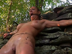 Buxom blond slut had steamy she wants to ride anal session with her freak outdoors