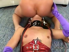 Naughty Asian bitch had soft core BDSM session with her fetish stud