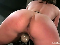 Well stacked bombshell Claire Dames is belted and fucked in tori black pov 15 room