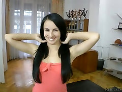 Desirable brunette mother and san saxy is face fucked brutally by Rocco Siffredi