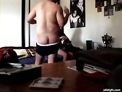 Shy mom and daughter massageshot girl with chubby body strokes hard dick of horny desi