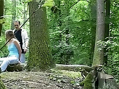 Wild story asian porno session in the forest with svelte brunette babe Claudie