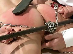 Doctor spanks his patients ass with a leather paddle in rough laughing indian girl fucked way