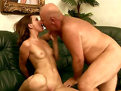 Young whore with small tits gets fucked in sideways position