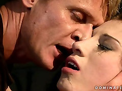 Lustful brunette bimbo gets her pussy pounded in rough extreame anal way
