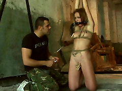 Slender Russian hoe gets her labia squeezed with pegs in bokep japanese mom 3gp sex scene
