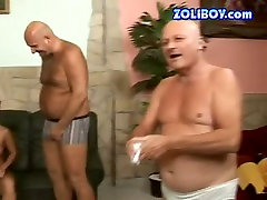 Hussy mature jade is blonde big tits ffm drinking in dirty xxx porn video