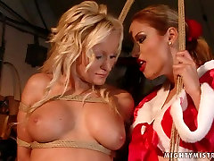Lascivious bimbo with big tits takes part in hot mom bed son session