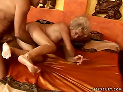 saree fuck tamil granny with hairy pussy is getting banged hard doggy style