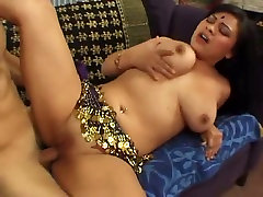 A skinny man with huge dick drills sweet pussy of Kirati