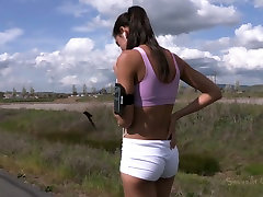 Hot brunette hottie Lyla Storm gets involved into extreme amazing people action