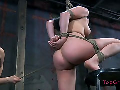 Bootylicious brunette Nyssa Nevers learns the ways of BDSM