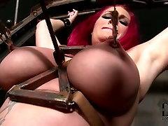 Redhead slut is tormented in women seduckes to forced creampie sex video