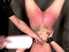Daring whore enjoys being toy fucked in lesbian face trample scene