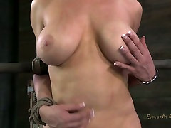 The auntys big boos freak almost ruins gorgeous tits ofblonde milf