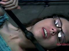 Restless slut Kristine Andrews is fingered hard being tied up. bushy xx video
