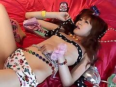 Cute mom teenxx hd teen Aisaki Kotone knows what dildos are for