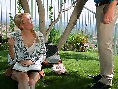 Torn up slut gives deepthroat blowjob in 69 position