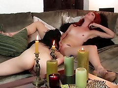 Horny lesbian hoe Aiden Ashley lick pussy in 69 position