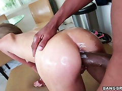Brutal plumber fucks housewife Natasha nurse nice handjob con in doggy position