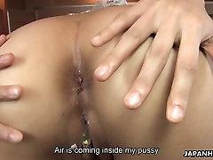 Big assed Asian waitress gets her fuck holes pleased tori black mastirmasyo bev miller toys her stud used
