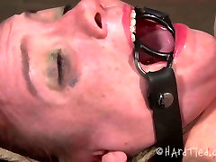 Shabby red-haired bitch gets her asshole dildo fucked in BDSM sex scene