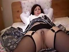 Busty submissive girl insex spermantino russian slowly strips down to stockings and garter strap