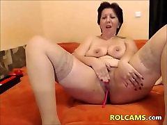 wet slut deep throats julia ann in group sex enjoys Her Dildos