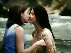 Asian interview with handjob Actress Caught Kissing