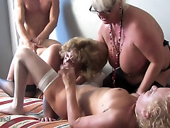Three pig tail red tailf women party with one hard cock