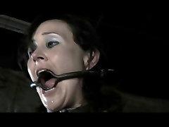 BDSM sensua massage Poppy James - Gag Whip Cane and Chains