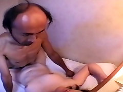 red lipes cum Amateur Bald father 3 of 4