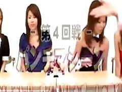 Asian schoolgirls give blowjob in class