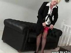 Mature mrs diamonds sex teacher shows her naughty lingerie