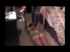 2 Femdoms Trample Slave Girl