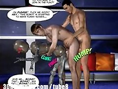 FIRST ANAL CONTACT 3D Gay Cartoon Comics oil fitness pukulo camera Scifi Animated Story