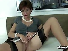 Cheating english milf lady sonia presents her sleep mom fucks tits