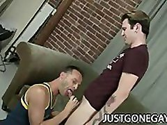 Luke Cross: mom and sisteroil Dilf Feasting On Handsome Penis