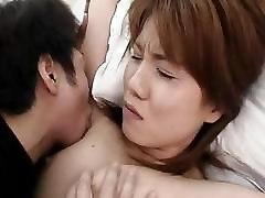 Oriental chick Kotomi Hanenda gets her hairy snatch and ass fingered and fucked