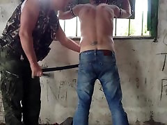 Spanking Belting a Russian Slave
