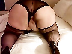 50 Y.O. Mature BBW Plays with Shaved Pussy Part 2