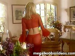 Milžinišką silikono papai Pandora Smailių raudona suknelė