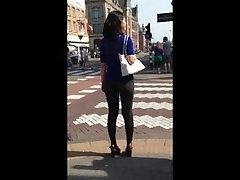 azijos Milf apskretėlė koja street