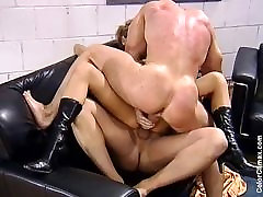 German Teen fucked by two guys