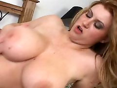 Hot Sara with japanese sex stage over her tits
