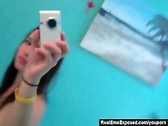 RealEmoExposed - Emo cellphone striptease