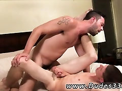 Gay celebrity sex film Nate climbs off after awhile, letting